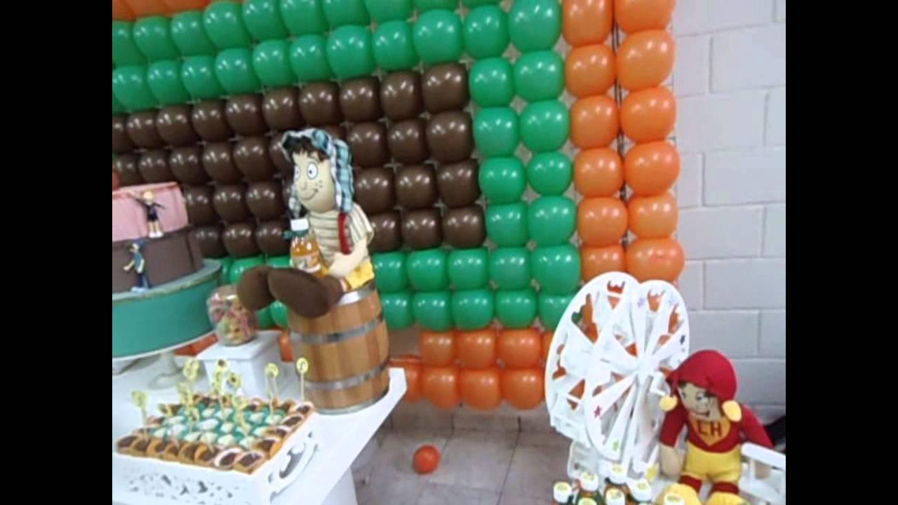 Festa Infantil  Tema Turma do Chaves  YouTube