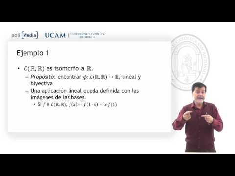 Álgebra Lineal - Isomorfismo entre dos espacios vectoriales. Ej 1. - Jesús Soto