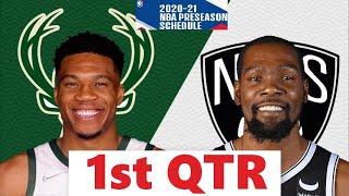 Brooklyn Nets vs. Milwaukee Bucks Full Highlights 1st Qtr