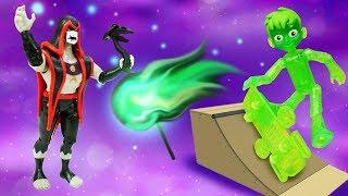 Игрушки из мультфильмов Бен 10 и Куклы лол в парке аттракционов. Видео про супергероев Бен Тен!