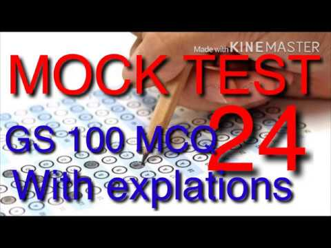 MOCK TEST 24 MPPSC 100 GS MCQ WITH EXPLATIONS(Right Academy)