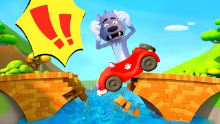 Monster Truck Rescues London Bridge | Vehicle for Kids | Kids Songs | Kids Cartoon | BabyBus