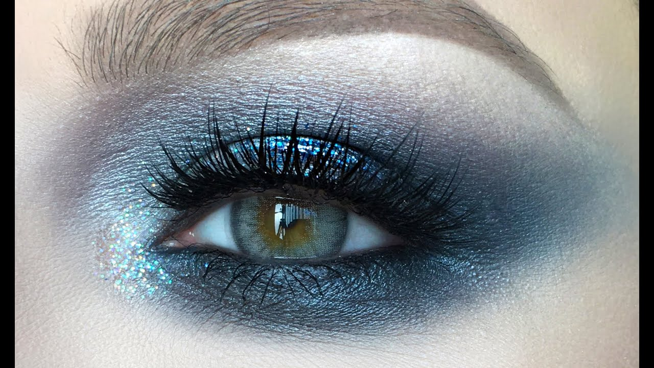 dramatic blue smokey eye makeup tutorial youtube