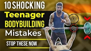 10 Shocking TEENAGE BODYBUILDING MISTAKES | Best Teen Gym Advice for Beginners in India (Part 2)