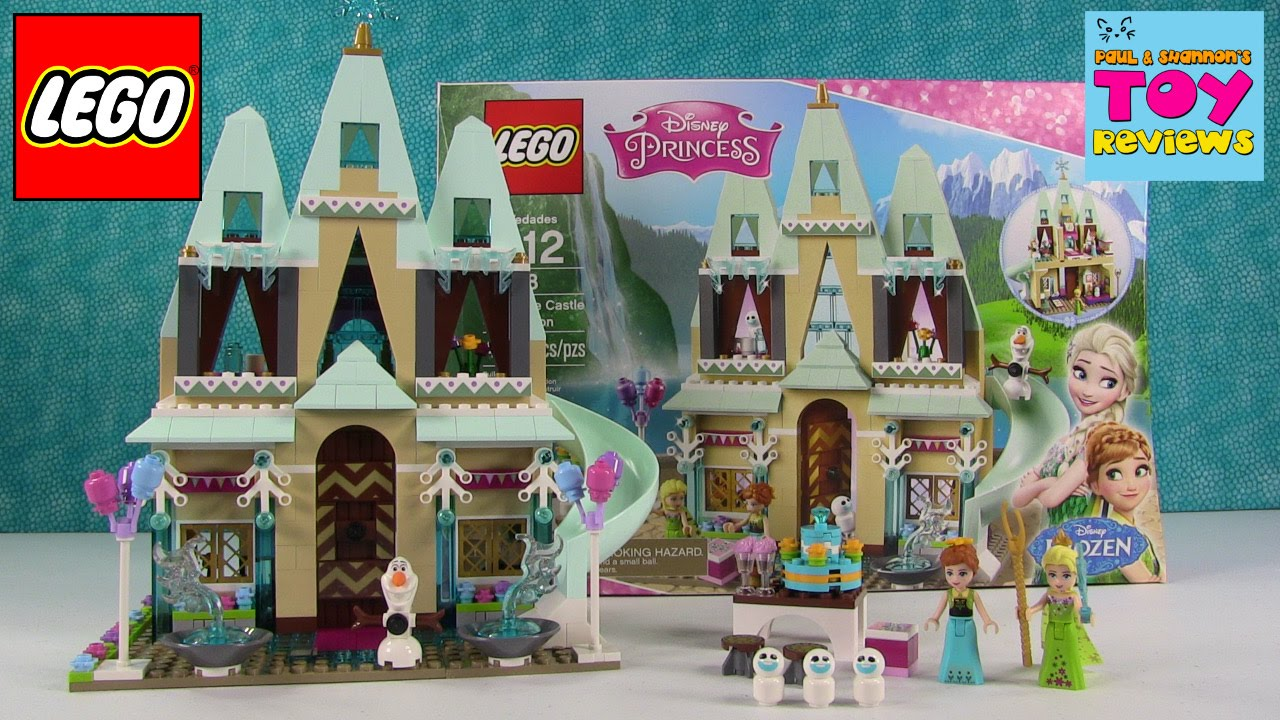 Lego Frozen Disney Princess 41068 Arendelle Castle Celebration Unboxing Pstoyreviews Youtube
