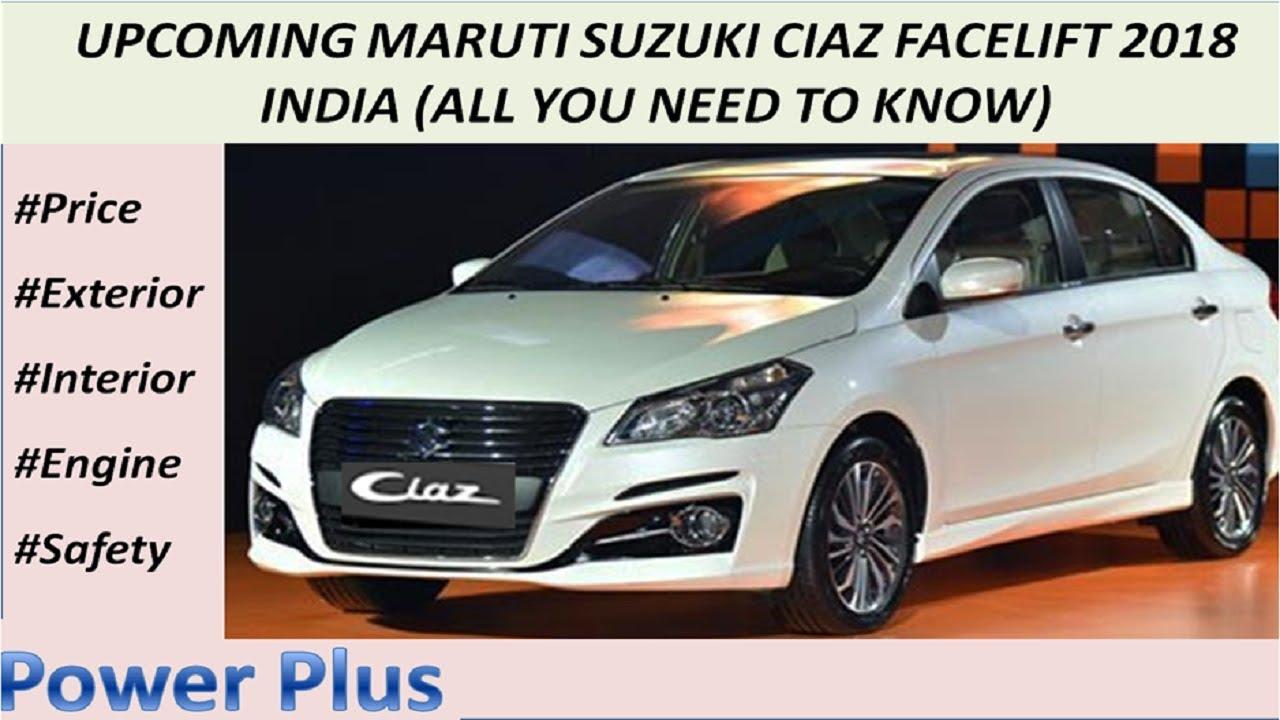 Upcoming Maruti Suzuki Ciaz Facelift 2018 New Ciaz 2018