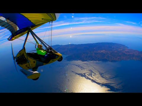 22 miles Open Ocean Ultralight Trike Flight to Catalina Island