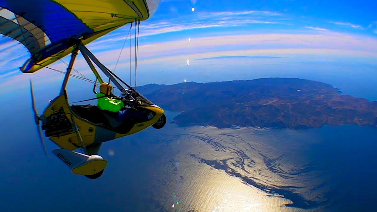 22 miles Open Ocean Ultralight Trike Flight to Catalina ...