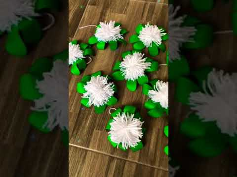 D.I.Y flower decors (How to make paper flowers) Backdrops Centerpiece Wall hanger