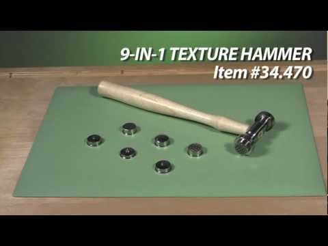 9-in-1 Texture Jewelry Pattern Hammer