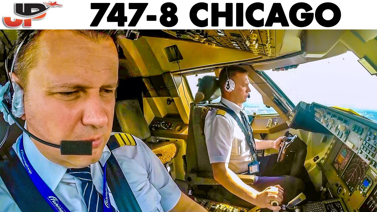 Download BOEING 747-8 Windy Landing at Chicago O'Hare Airport🇺🇸