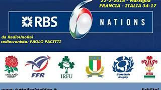 Il 6 Nazioni alla radio: Francia-Italia 34-17 (22-2-2018)