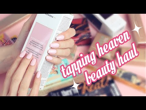 Tapping Heaven Beauty Haul! Makeup and Skincare (whisper & tapping)