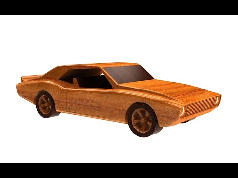 How to make a toy wooden car in SolidWorks (Chevrolet Camaro 1967) - Part1