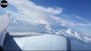 Air Canada 777-200LR Stunning Engine View Takeoff from Hong Kong!