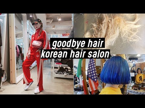 Cutting My Long Hair, Dying Back to Jet Blue for Seoul Fashion Week 2018 | DTV #91