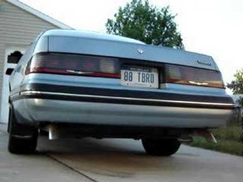 1988 Ford Thunderbird exhaust  YouTube