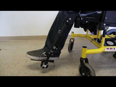 Seating Dynamics Dynamic Footrests provide movement in up to 3 planes