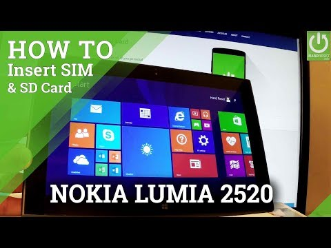 How to Insert SIM and SD in NOKIA RX-113 Lumia 2520 - Set Up SIM & SD