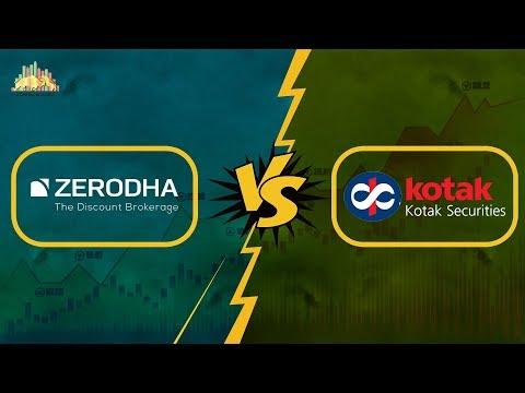 ज़ेरोधा तथा कोटक सिक्योरिटीज़ के अंतर, Zerodha vs Kotak Securities - Detailed Comparison