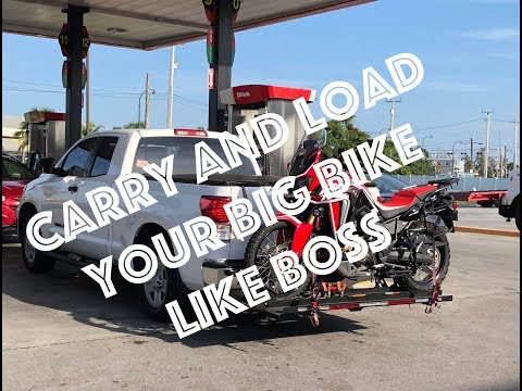 DIY Motorise Hitch Mounted Motorcycle Carrier Hauler Rack Ramp