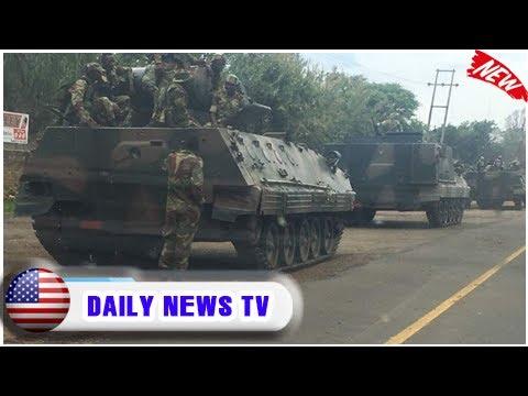 Military vehicles 'heading towards zimbabwe capital' amid political purge  Daily News TV