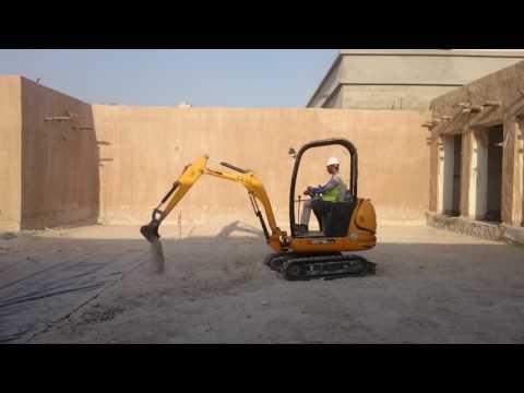 Engineer Ghaffar Operating excavator Al ali engineering Qatar Doha