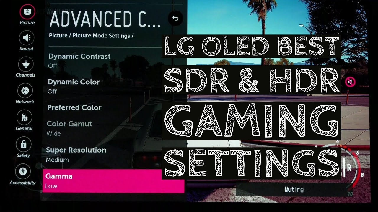 LG OLED SDR and HDR Best Gaming Settings!