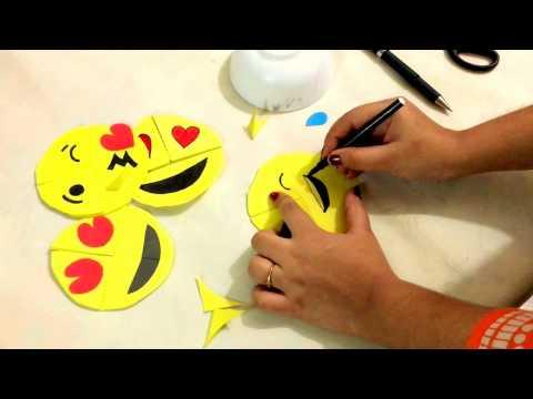 DIY - paper crafting- how to make Emo / EMOJI .....