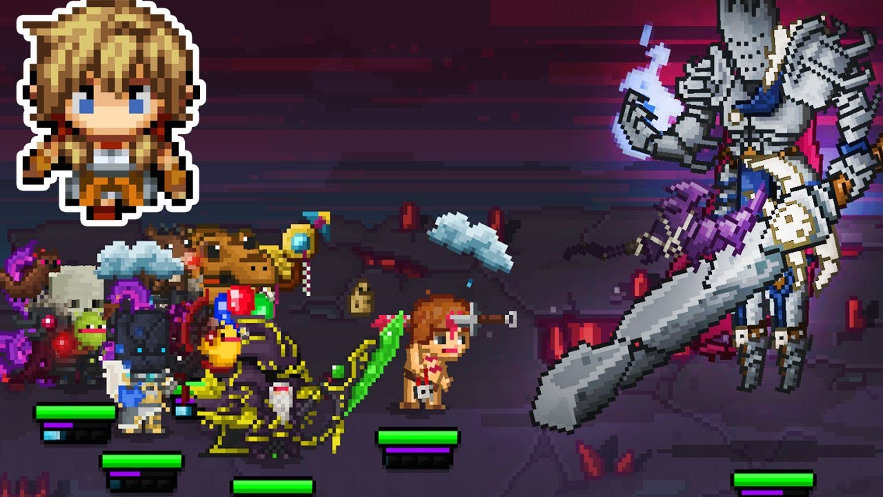 Bit Heroes pixel gameplay 2 - mmorpg mobile game for iOS Android