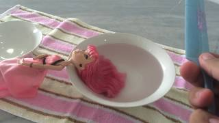 How to Fix Frizzy Doll Hair / Boil Wash and Straightening Tutorial - EVER AFTER HIGH