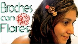 Broches con flores / hair flowers clips♥ Thumbnail