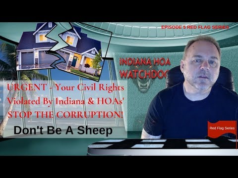 URGENT! - HOA Violating Freedom Of Speech Civil Rights Homeowners Association Lawsuits