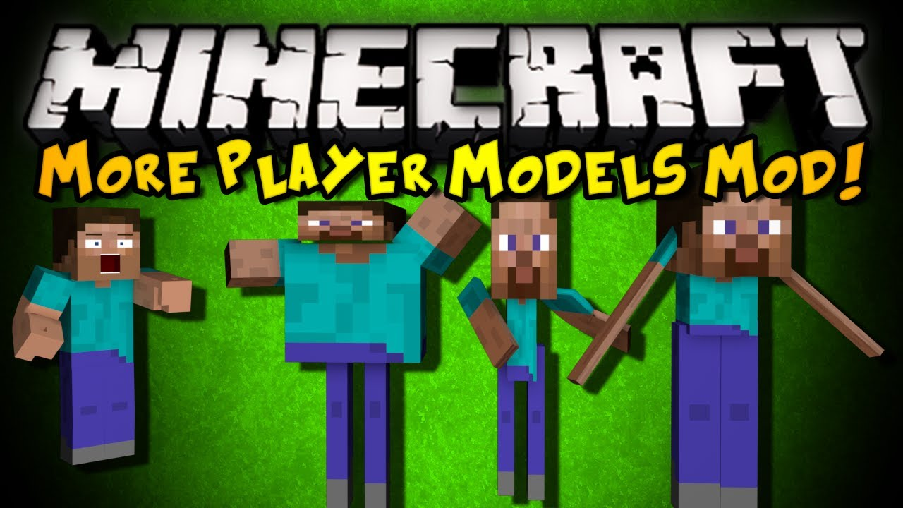 Minecraft: More Player Models 2 Mod – WARP YOUR SKIN, BECOME MOBS, & MORE! (HD)