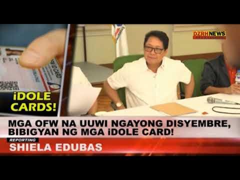 OFWs, BIBIGYAN NG iDOLE CARD