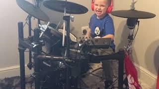 Psychosocial - Drum Cover. Caleb H Drummer (age 5) 🥁🤘🏼