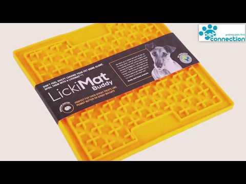 LickiMat Buddy Dog & Cat Feeding Mat - Soothes Anxious Pets & Improves Dental Health