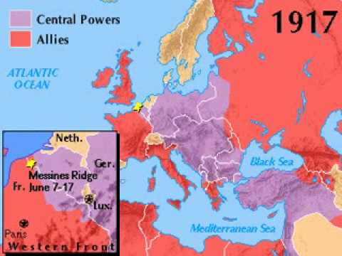 World war one 1914 1918 map youtube world war one 1914 1918 map gumiabroncs Images