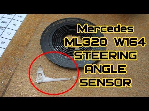 Ремонт датчика поворота руля на Mercedes Benz ML320 W164.