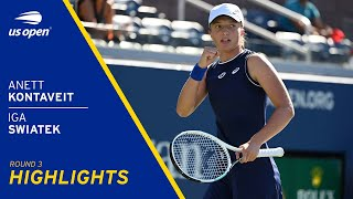 Anett Kontaveit vs Iga Swiatek Highlights | 2021 US Open Round 3