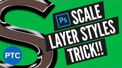 Useful Photoshop Trick: Best Way To Scale Layer Styles!