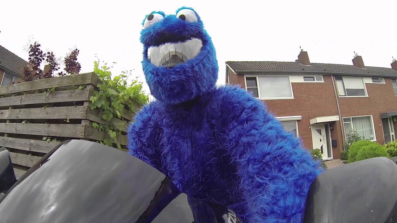 Cookie Monster On Motorcycle
