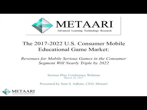 U S  Market for Consumer Education Games On Mobile
