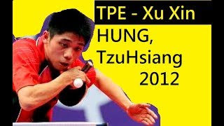 [able Tennis TPE #1 penhold ] Hung Tzu Hsiang Best Rally (Junior World 2012 1/8)