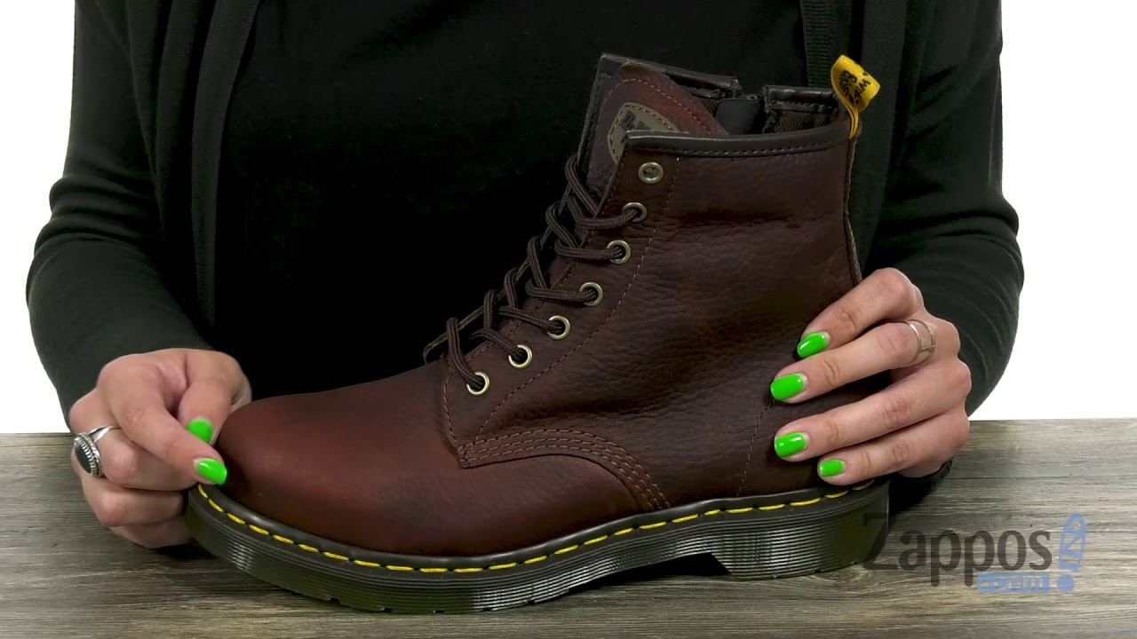 8f3faca02c98 Dr. Martens Work Maple Steel Toe Zip SKU  9133660 - YouTube