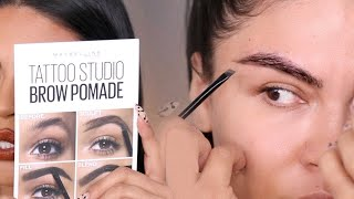 NEW MAYBELLINE TATTOO STUDIO BROW POMADE REVIEW | SWATCHES| MAKEUPBYGRISELDA