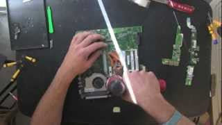 ACER Aspire 4720Z laptop take apart video, disassemble, how to open disassembly