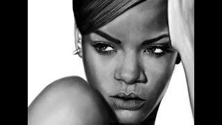 Drawing Rihanna on iPad Pro with Apple Pencil / iPad Art