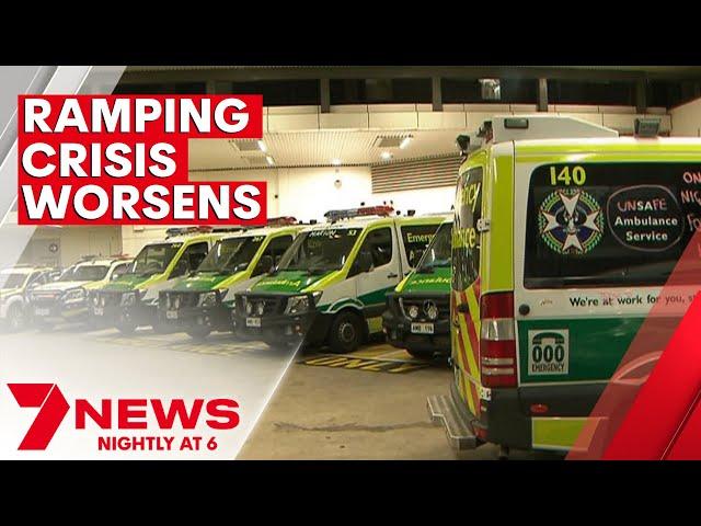 South Australia's ambulance ramping crisis worsens | 7NEWS