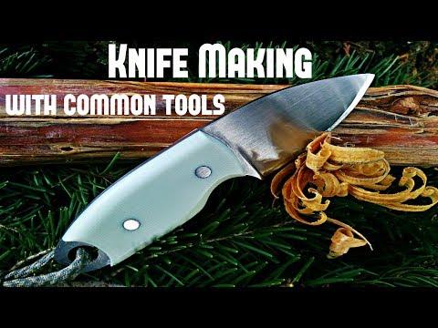 Knife Making- EDC Bushcraft Knife with Common Tools